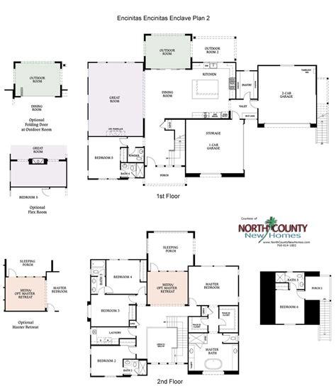 enclave floor plans encinitas enclave new homes plan 2 north county new homes