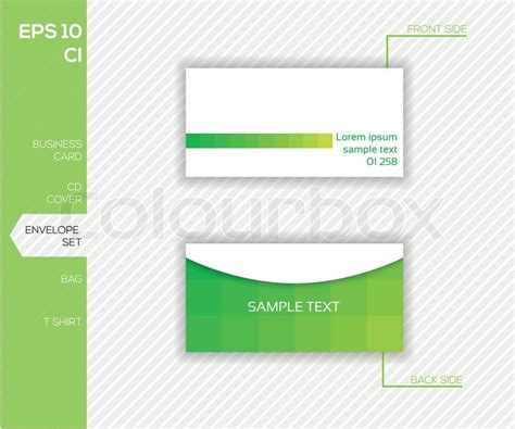 envelope layout template vector corporate identity design for business abstract vector