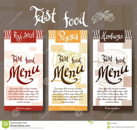 fast food menu card templates cafe menu with design fast food restaurant