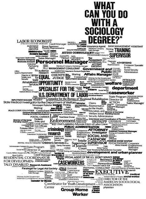 What Can U Do With An Mba Degree by What Can You Do With A Sociology Degree Sociology At Work