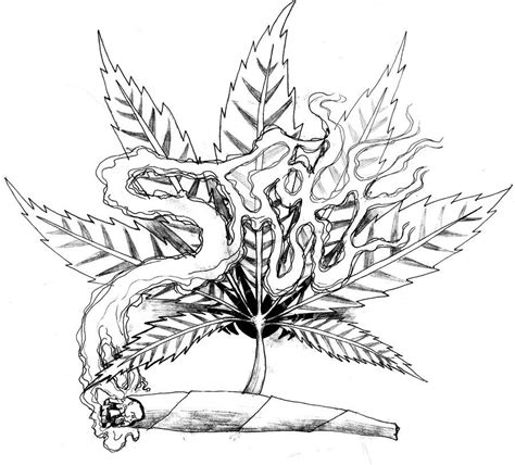 weed leaf coloring page weed tattoo art similar deviations projects to try
