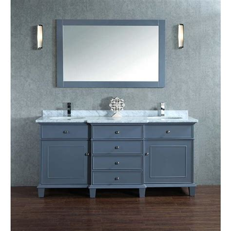 Mirror For 60 Inch Vanity by Stufurhome Cadence Grey 60 Inch Sink Bathroom