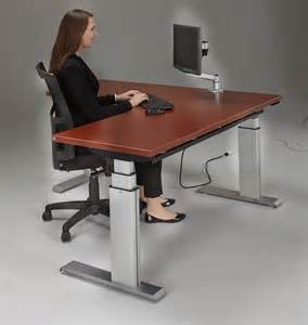 Standing Corner Desk Newheights Corner Height Adjustable Standing Desk