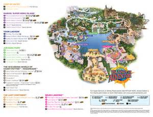 Universal Orlando Map 2015 by Behind The Thrills Islands Of Adventure