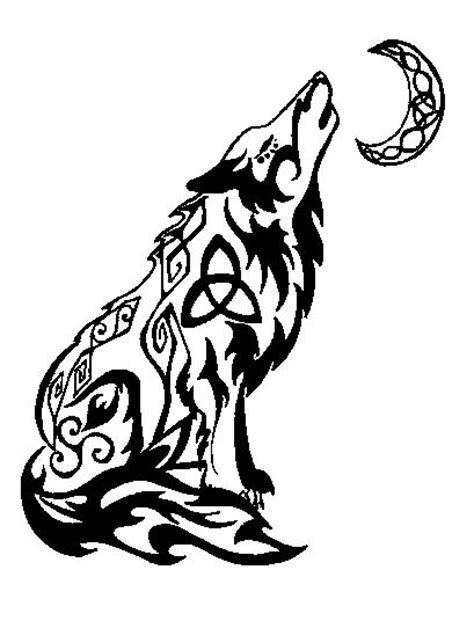 tribal wolf and moon tattoo 25 best ideas about celtic wolf on