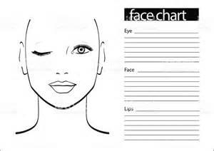 makeup design template chart makeup artist blank template vector