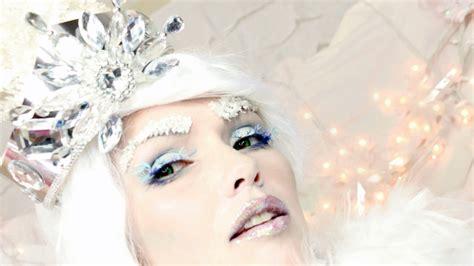makeup tutorial snow queen frozen snow queen halloween makeup tutorial by kandee
