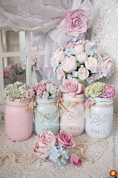 shabby chic ideen zum selbermachen gl 228 ser pastell and shabby chic on