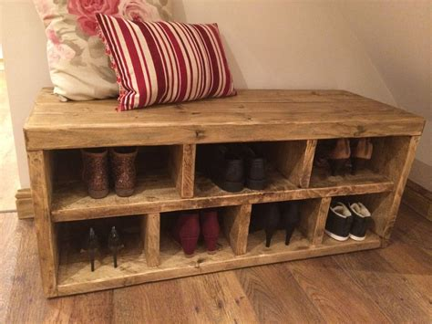 shoe rack with bench seating handmade solid reclaimed hall shoe bench shoe rack