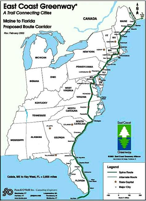 america map east map east coast us
