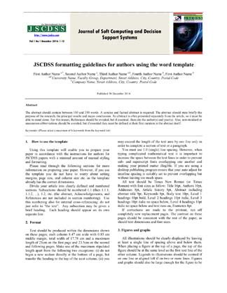Journal Of Soft Computing And Decision Support Systems Decision Journal Template
