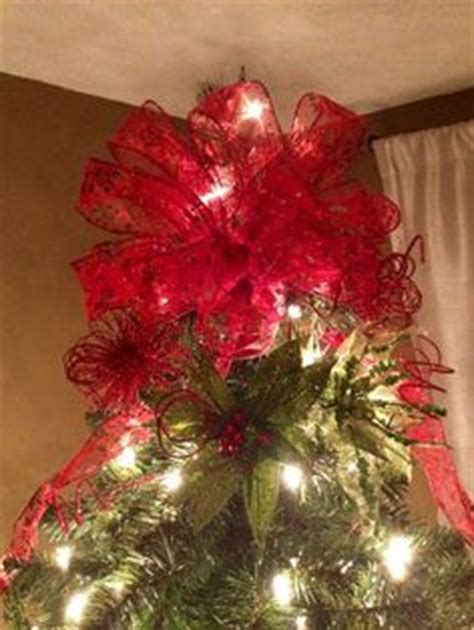 christmas bow topper diy 1000 images about tree topper on tree toppers tree toppers and