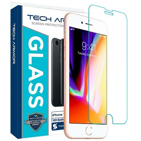 tech armor ballistic glass screen protector 1 pack for apple iphone 6 6s 7 8 ebay