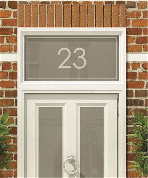 Frosted Numbers And Text For Your Home The Window Film