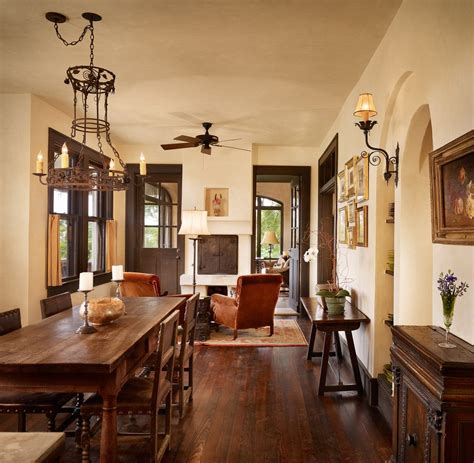 Dark trim light walls dining room contemporary with dark stained wood french doors built in cabinets