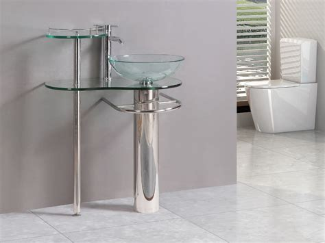 modern glass pedestal sink the most amazing style of contemporary pedestal sink for