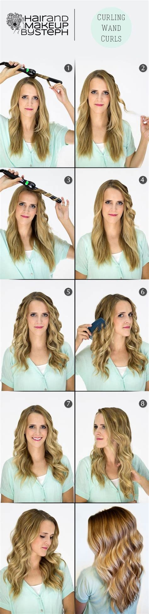 cute wand hairstyles curling wand waves hair styles pinterest curls