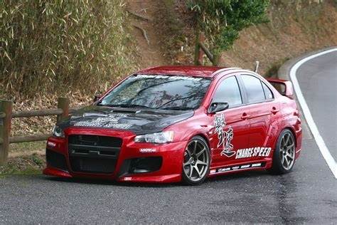 mitsubishi sports car mitsubishi lancer evolution x chargespeed wide body kit