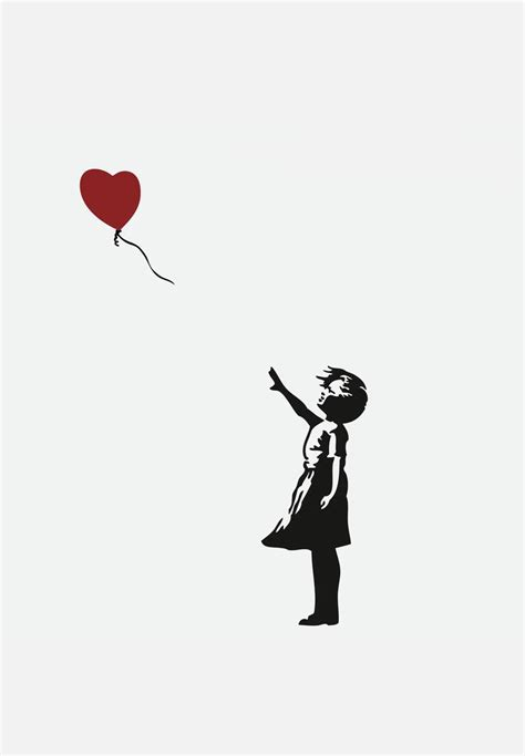 with red balloon wall decal banksy art superbalist com