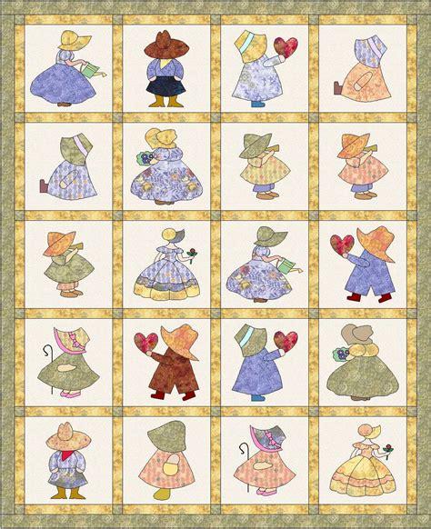 quilt pattern sunbonnet sue quilt pattern sunbonnet sue and sam quilt 64 x