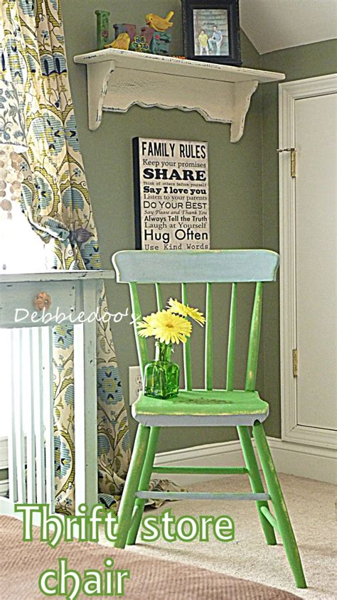 diy chalk paint debbie thrift store chair painted two toned with sloan