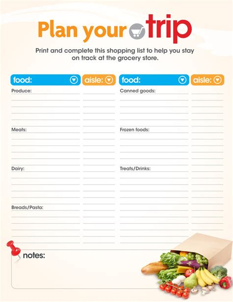 grocery planner free printable coloring pages