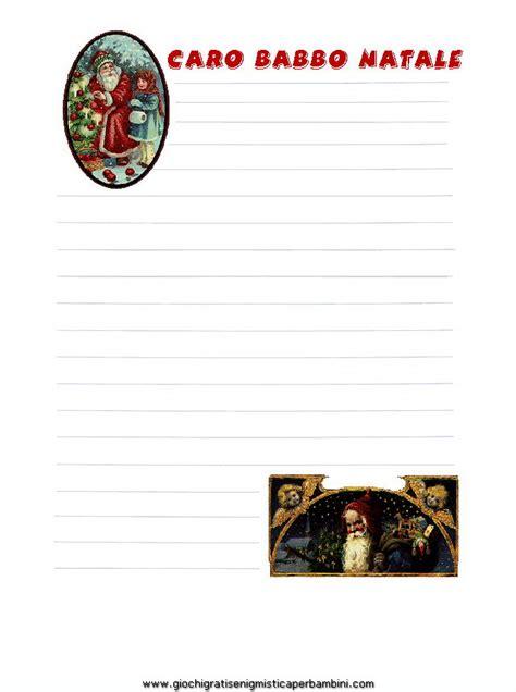 carta da lettere babbo natale carta da lettere babbo natale4 giochi per bambini