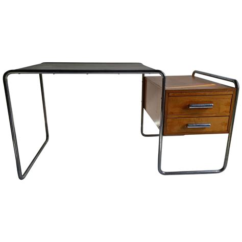 and important marcel breuer bauhaus desk for thonet