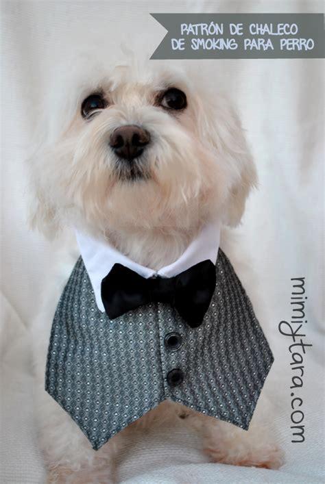 mimi y tara patrones de ropa para perros patr 243 n de chaleco de smoking para perro mimi y tara