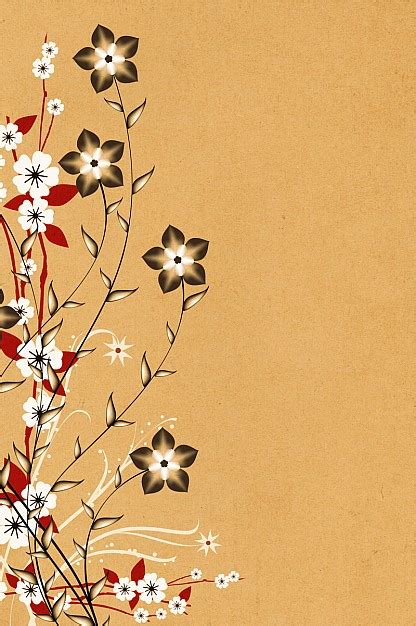 flowers on brown background vector free