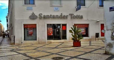 banco totta santander totta em tavira bancos de portugal