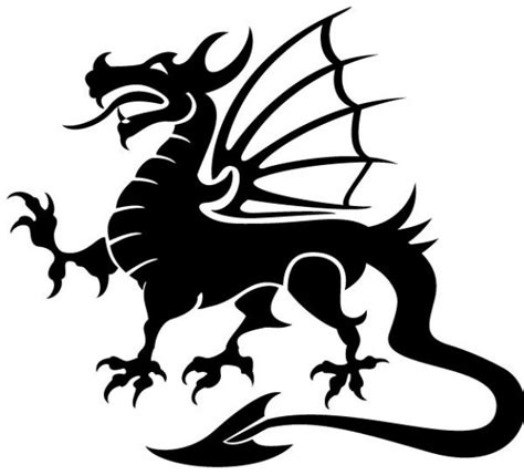dragon tattoo vector free dragon vector image vector free download