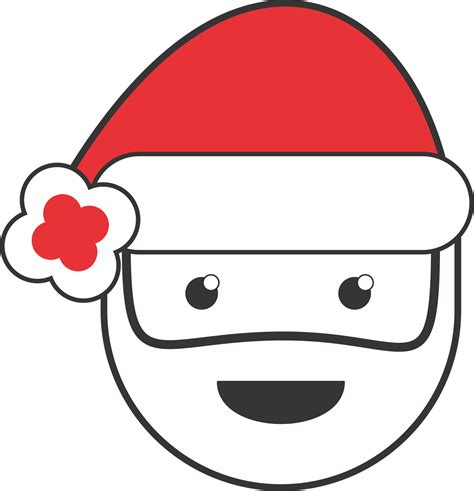 search results for santa face black and white calendar