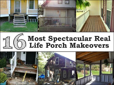 Porch Makeover 16 most spectacular real porch makeovers