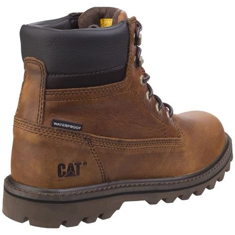 Caterpilar Leather caterpillar mens deplete waterproof lace up leather boots