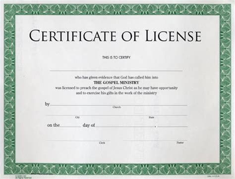 certificate of license template images templates design
