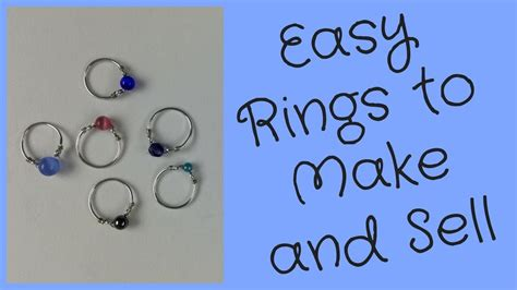 how to make and sell jewelry wire rings to make and sell diy jewelry tutorial