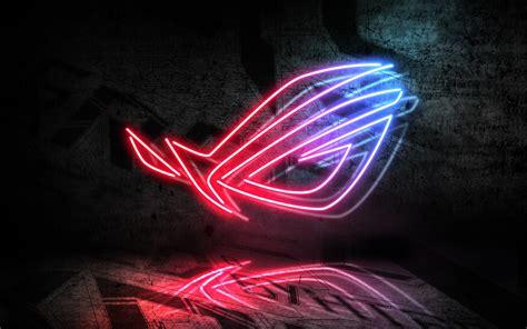 wallpaper asus neon sign republic  gamers neon light