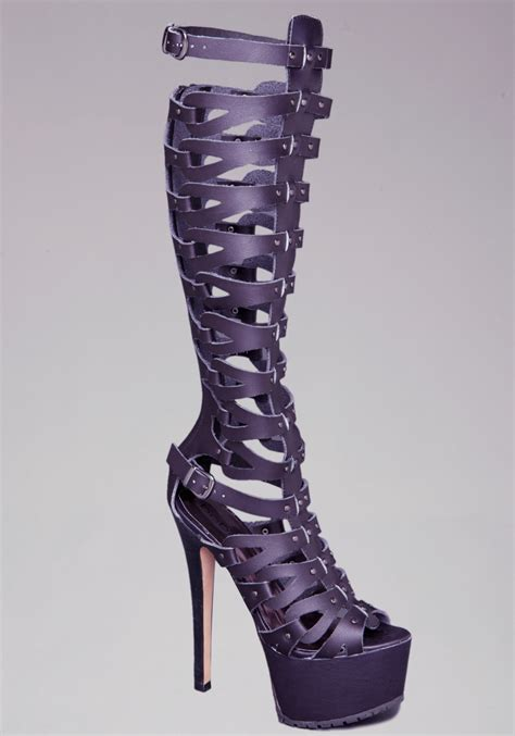 Heels Gladiatorplatform Heels Tali bebe tacorda gladiator platform sandals in purple lyst
