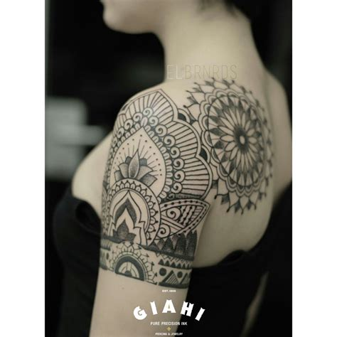 dark flower tattoo designs flowers and mandala dotwork by elda bernardes