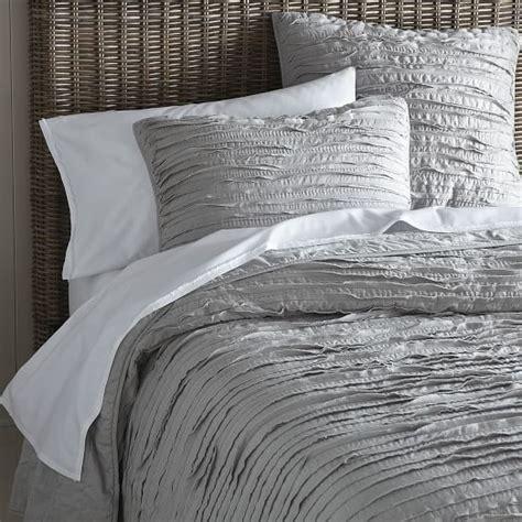 gray quilt bedding frayed edge quilt platinum west elm