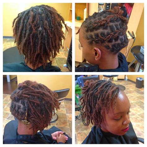 loc and twist hairstyles with color first style short starter baby loc style loc love