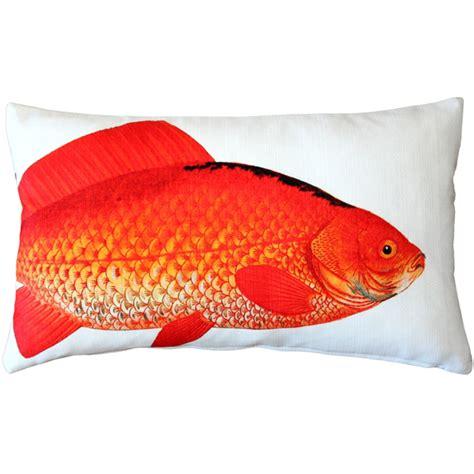 pillow fish goldfish fish pillow 12x20