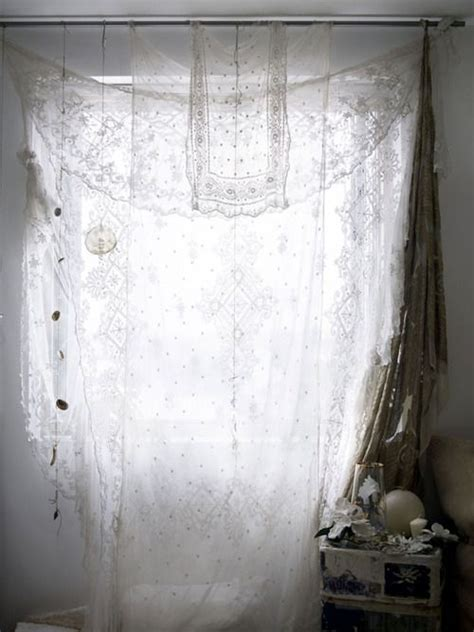 table cloth drapes re use curtains look like maybe a sheer table cloth tied
