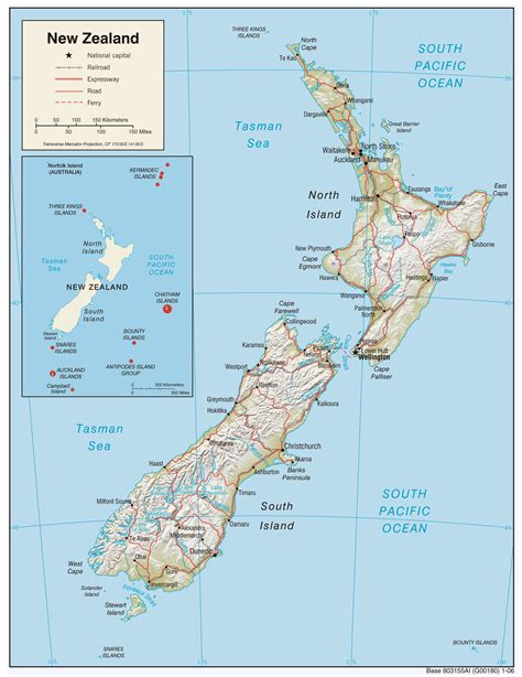 political map of new zealand maps of new zealand map library maps of the world