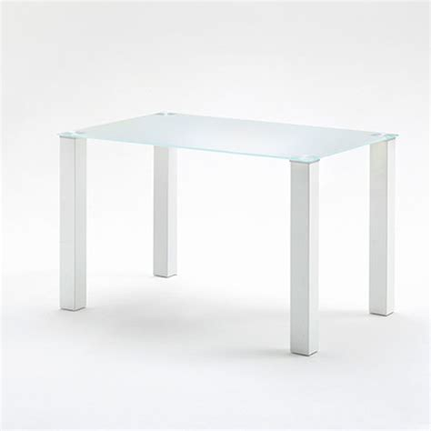 120cm rectangular frosted glass top dining table only