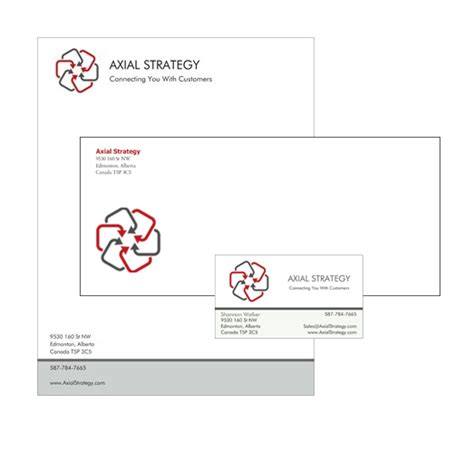 business card letterhead envelope template shop axialstrategy comaxialstrategy