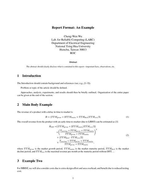 sle engineering lab report engineering technical report template 28 images