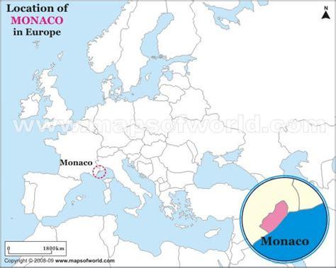 monaco europe map monaco map