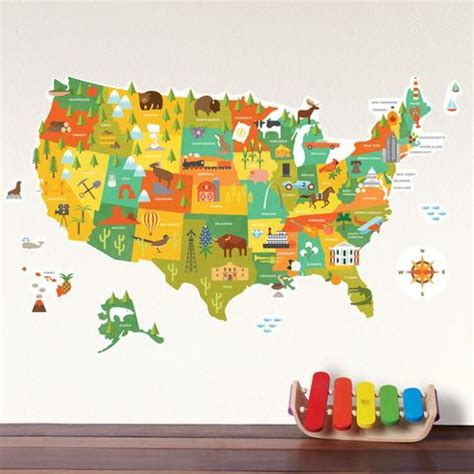 wall stickers map united states map wall decal walldecals